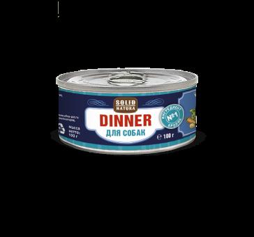 Консервы для собак Solid Natura Dinner, кролик, 100 г
