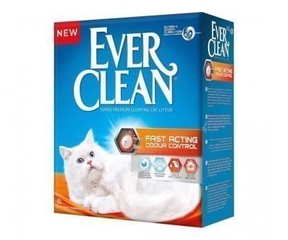 Наполнитель кошачьего туалета Ever Clean Fast Acting (глиняный, 6,0 кг, 6 л, свежесть)