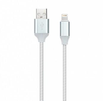 Кабель зарядки Smartbuy 512 Illuminate, USB - iPhone (2 А, 1 м, белый)