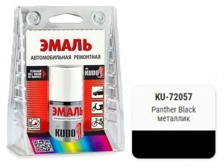 Краска-кисточка KUDO KU-72057 (Ford, panther black, металлик)