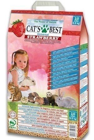 Наполнитель кошачьего туалета Cats Best Universal Strawberry (древ., 5,5 кг, 10 л, клубника)
