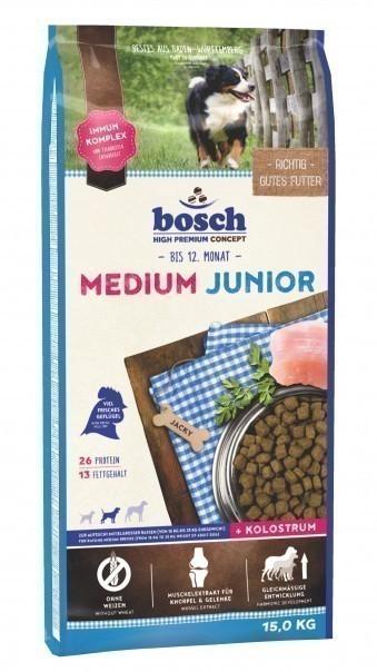 Сухой корм для собак Bosch Medium Junior, 15 кг