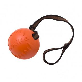 Игрушка DogLike Мяч с лентой (оранжевый, диаметр 6,5 см)