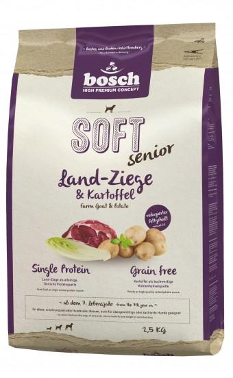 Корм Bosch Soft Senior для собак, с козлятиной и картофелем, полувлажный,  2,5 кг