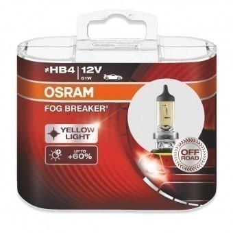 Лампы Osram HB4 Fog Breaker (12 В, 51 Вт, +60%, блистер, 2 шт)