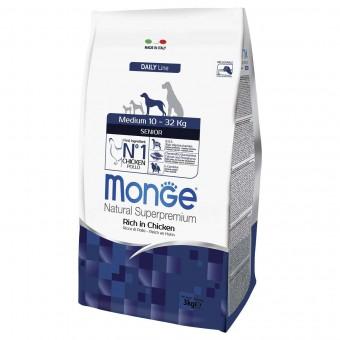 Сухой корм для собак Monge Daily Line - Medium Senior (3 кг)