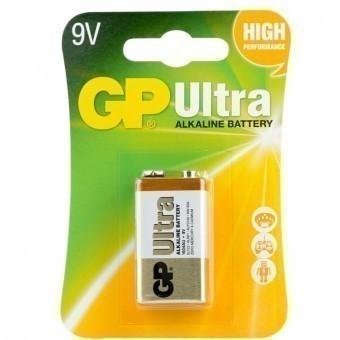 Батарейка 9V (MN1604) GP Ultra (блистер, 1 шт)