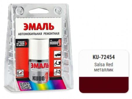 Краска-кисточка KUDO KU-72454 (Toyota, Salsa Red, металлик)