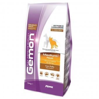 Сухой корм для собак Gemon Adult Medium, с курицей (15 кг)