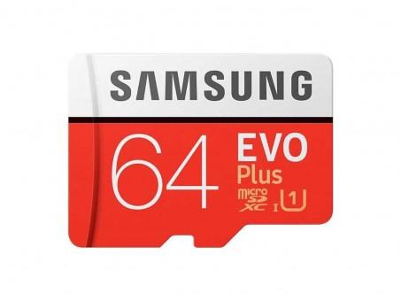 Карта памяти microSD Samsung EvoPlus 64 Gb (class 10, U1)