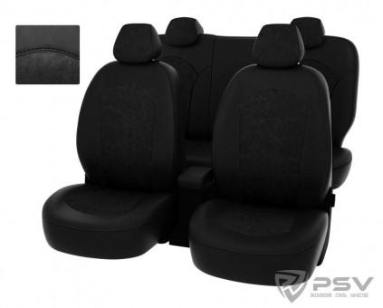 Чехлы Оригинал Toyota Rav4 IV (2013-н.в.) - черный + алькантара, 126714
