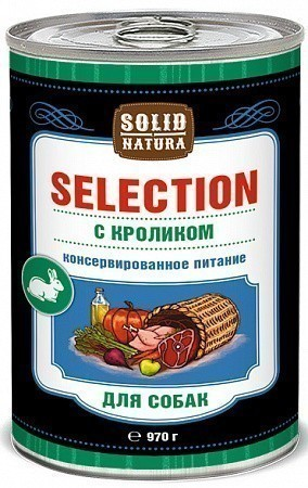 Консервы для собак Solid Natura Selection, кролик (970 г)