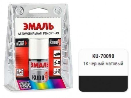 Краска-кисточка KUDO KU-70090 (ВАЗ, 1К, черный матовый)