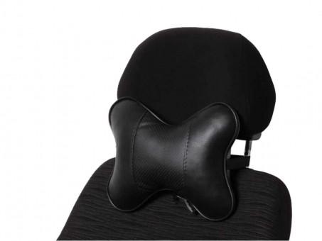 Подушка-косточка AirLine Экокожа (черная)