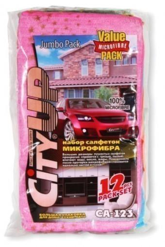 Набор салфеток CityUp CA-123 Jumbo Pack (микрофибра, 12 шт)