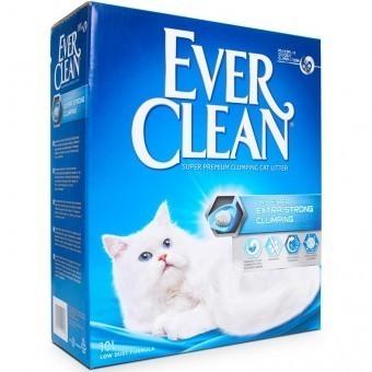 Наполнитель кошачьего туалета Ever Clean Extra Strong Clumping (глиняный, 10,0 кг, 10 л, без запаха)