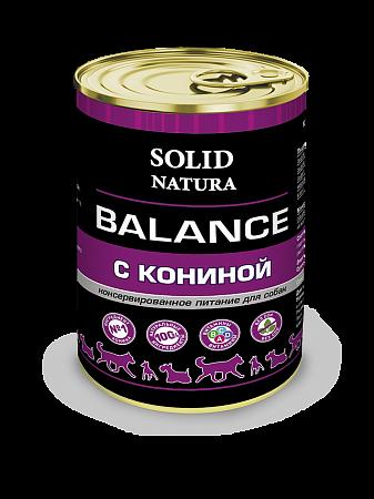 Консервы для собак Solid Natura Balance, конина (340 г)