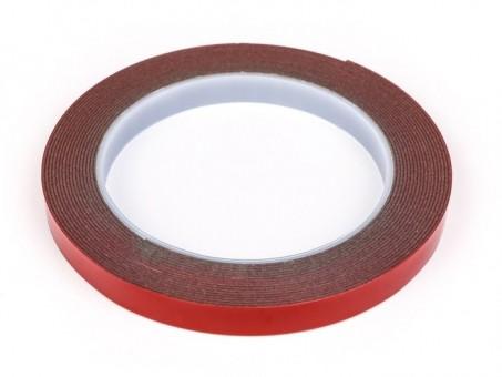 Скотч двусторонний силиконовый усиленный 5 м х 10 мм (серый)