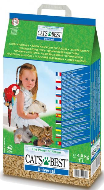 Наполнитель кошачьего туалета Cats Best Universal древ., (5,5 кг, 10 л, без запаха)