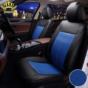 Чехлы универсальные из экокожи Автокорона R000-K - черно-синие