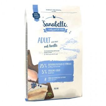 Сухой корм для кошек Sanabelle Adult с форелью NEW, 10 кг