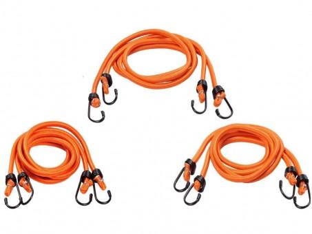 Стяжки-резинки AirLine 6 шт (2х60 см, 2x80 см, 2x100 см, метал. крючки)